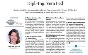 """Interview with Vera Led for the supplement of DER STANDARD """"Women in Top Positions"""""""