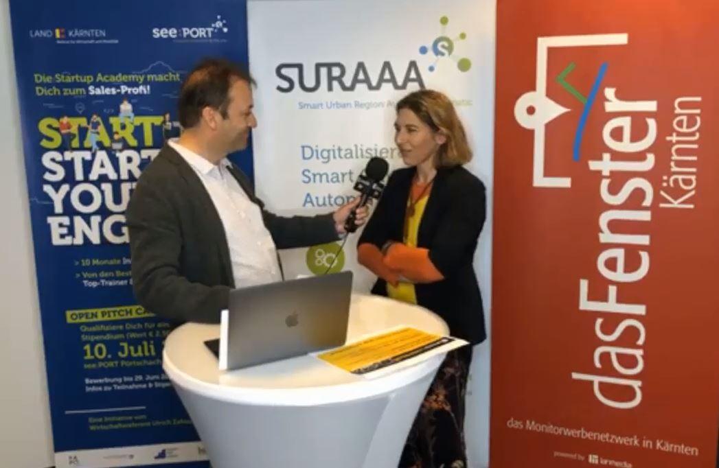 """Vera Led im Interview am """"Entreprenuership-Evening"""" in Pörtschach"""