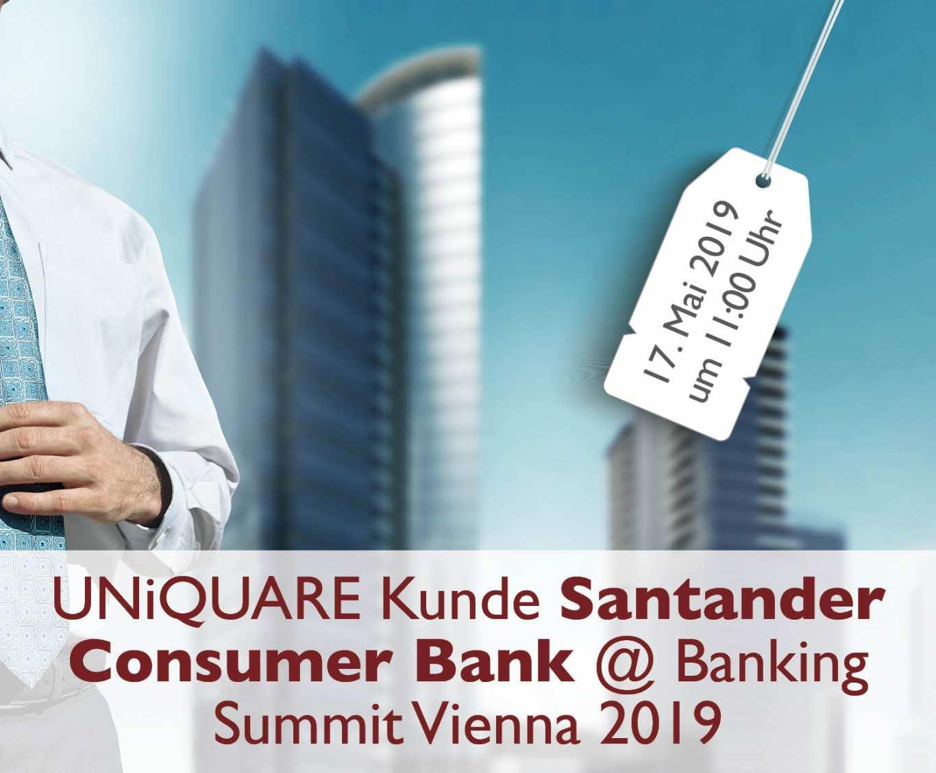 Unser Kunde Santander mit einem Vortrag auf der Banking Summit 2019