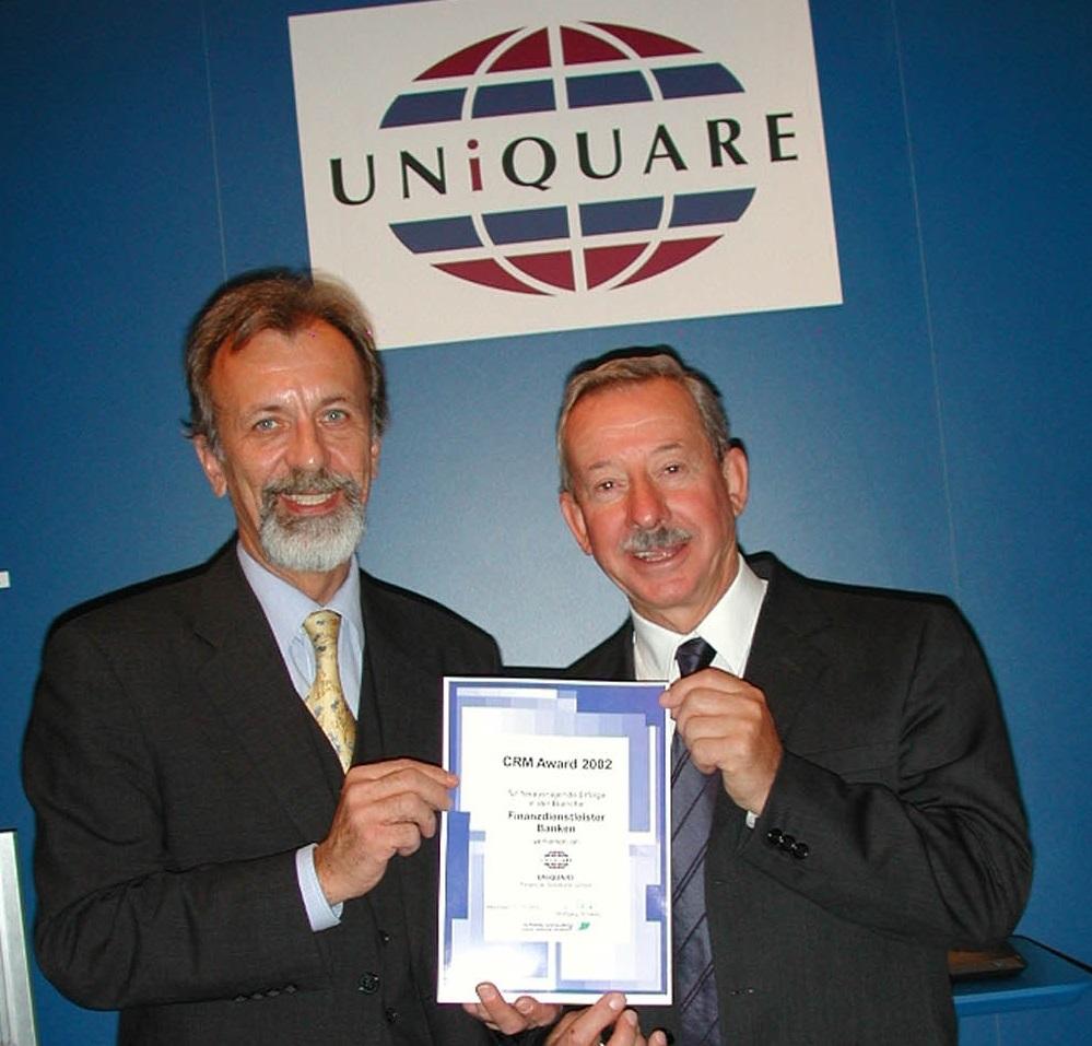 Wussten Sie, dass UNiQUARE CRM mehrfach durch Wolfgang Schwetz ausgezeichnet wurde?