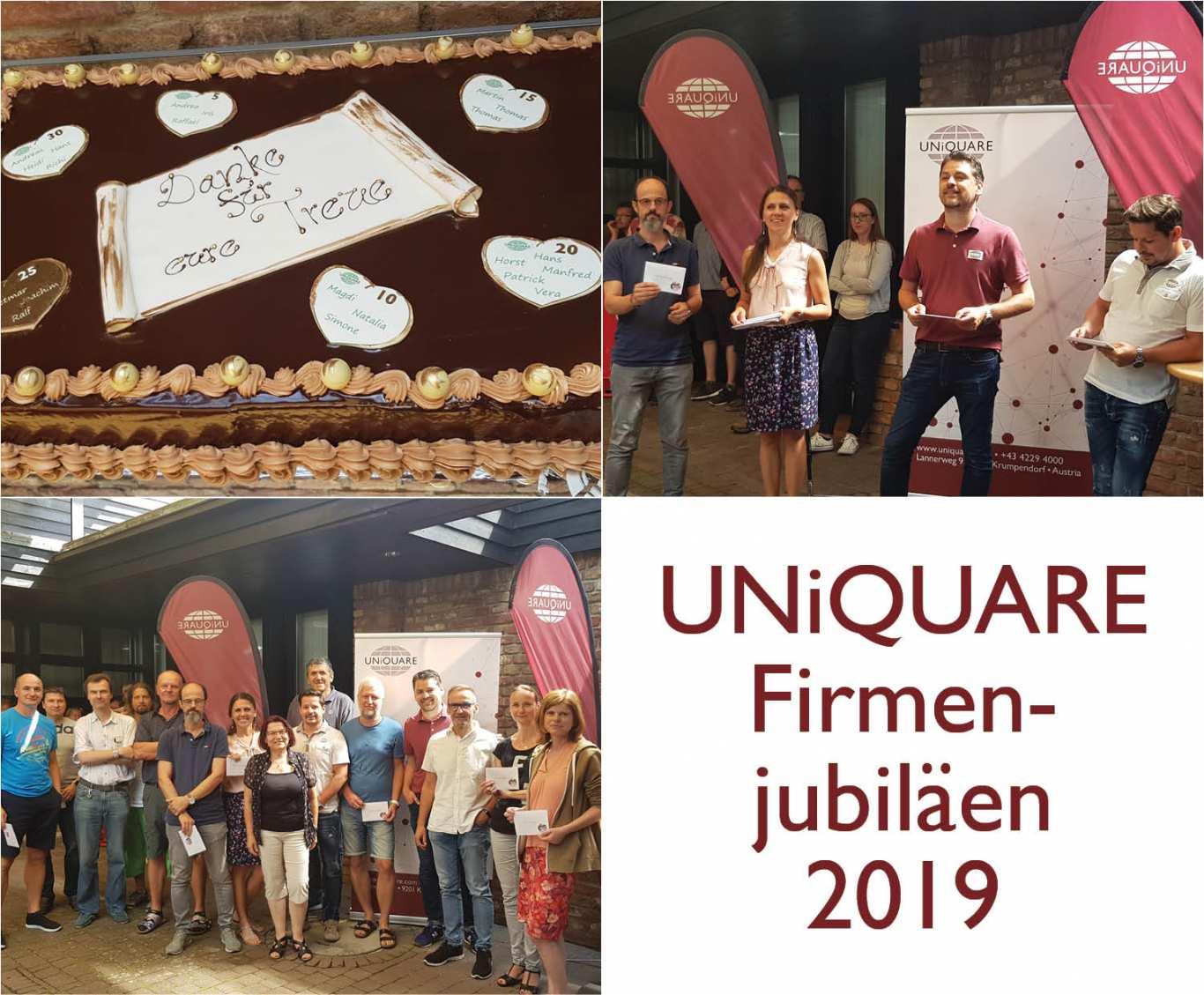 UNiQUARE gratuliert heuer 21 Mitarbeiter zu ihrem Firmenjubiläum