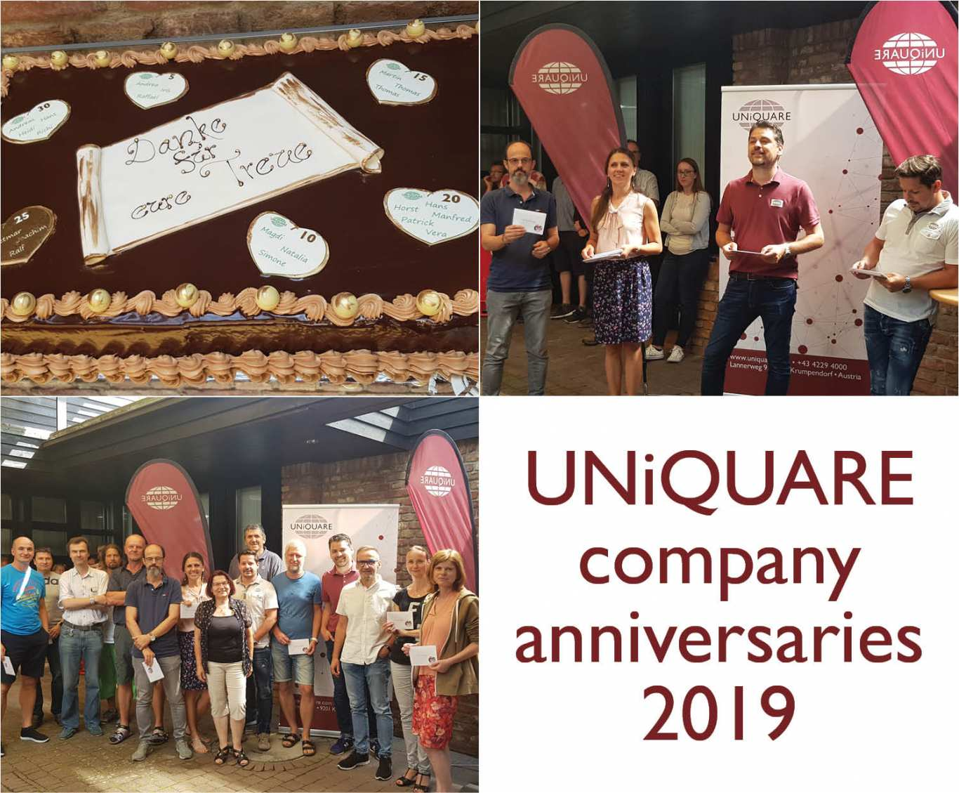 UNiQUARE honours 21 employees for their company anniversaries this year