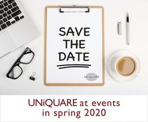 Meet colleagues from UNiQUARE at the following events in spring 2020