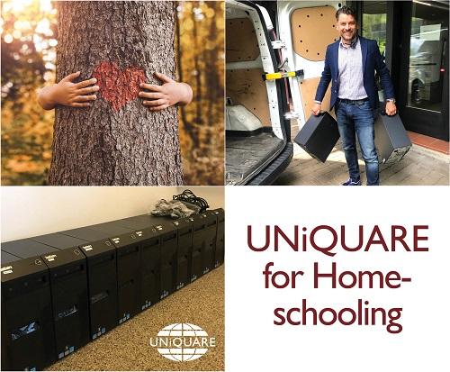 UNiQUARE unterstützt Homeschooling-Projekt