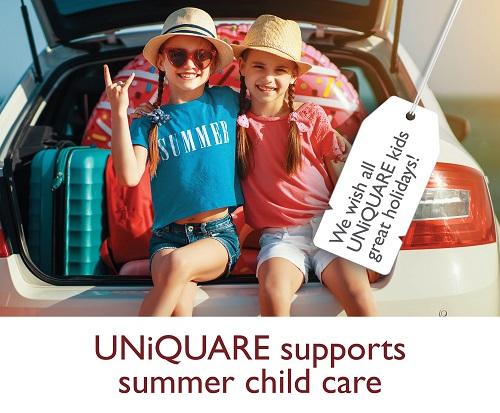UNiQUARE supports summer child care