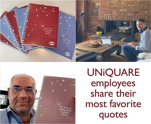 Our new writing pads with the favorite quotes of our employees have arrived!