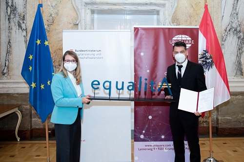 """equalitA"" Zertifikatsverleihung in Wien"
