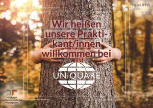 Willkommen bei UNiQUARE, liebe Praktikantinnen und Praktikanten!